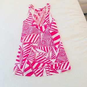 Lilly Pulitzer Pink White Cotton Tank